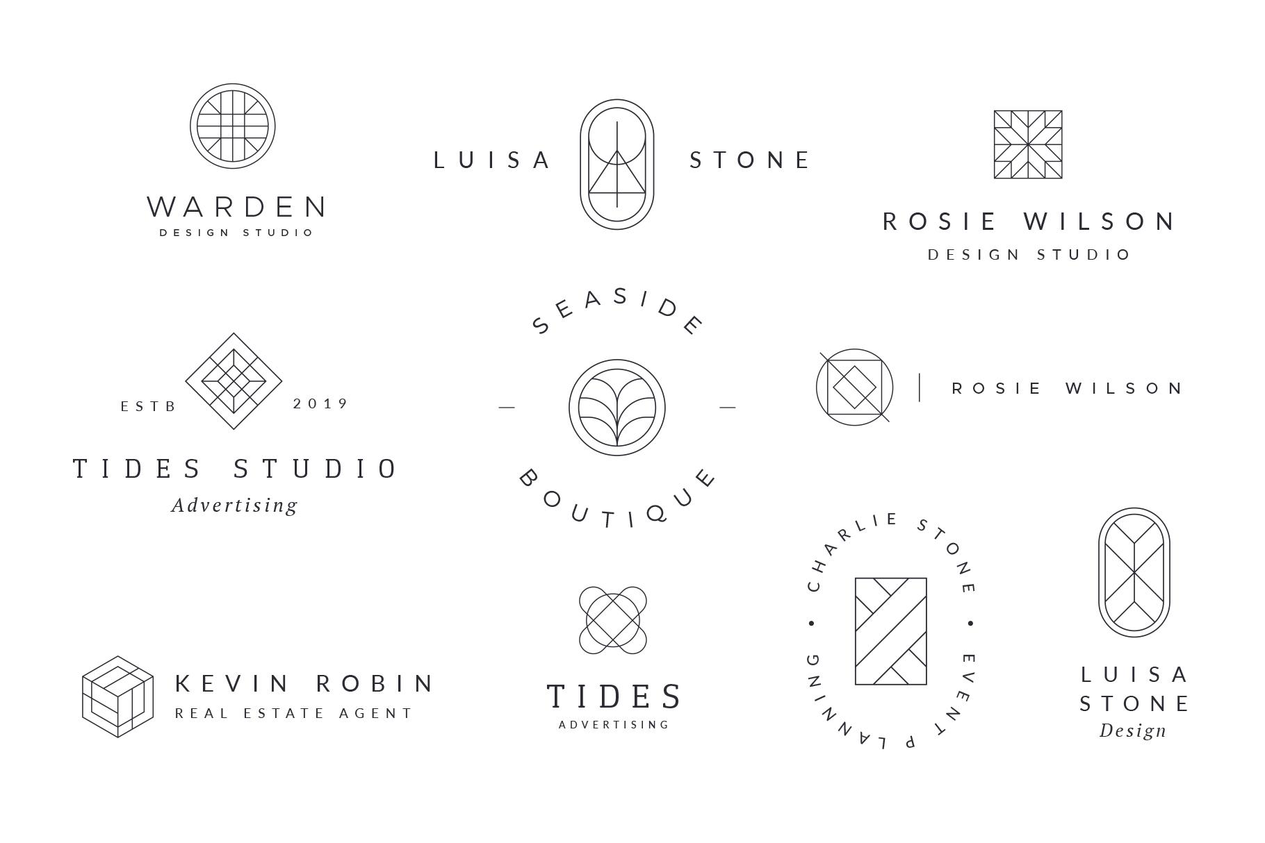 Minimal Geometric Logos - Volume 1 example image 5