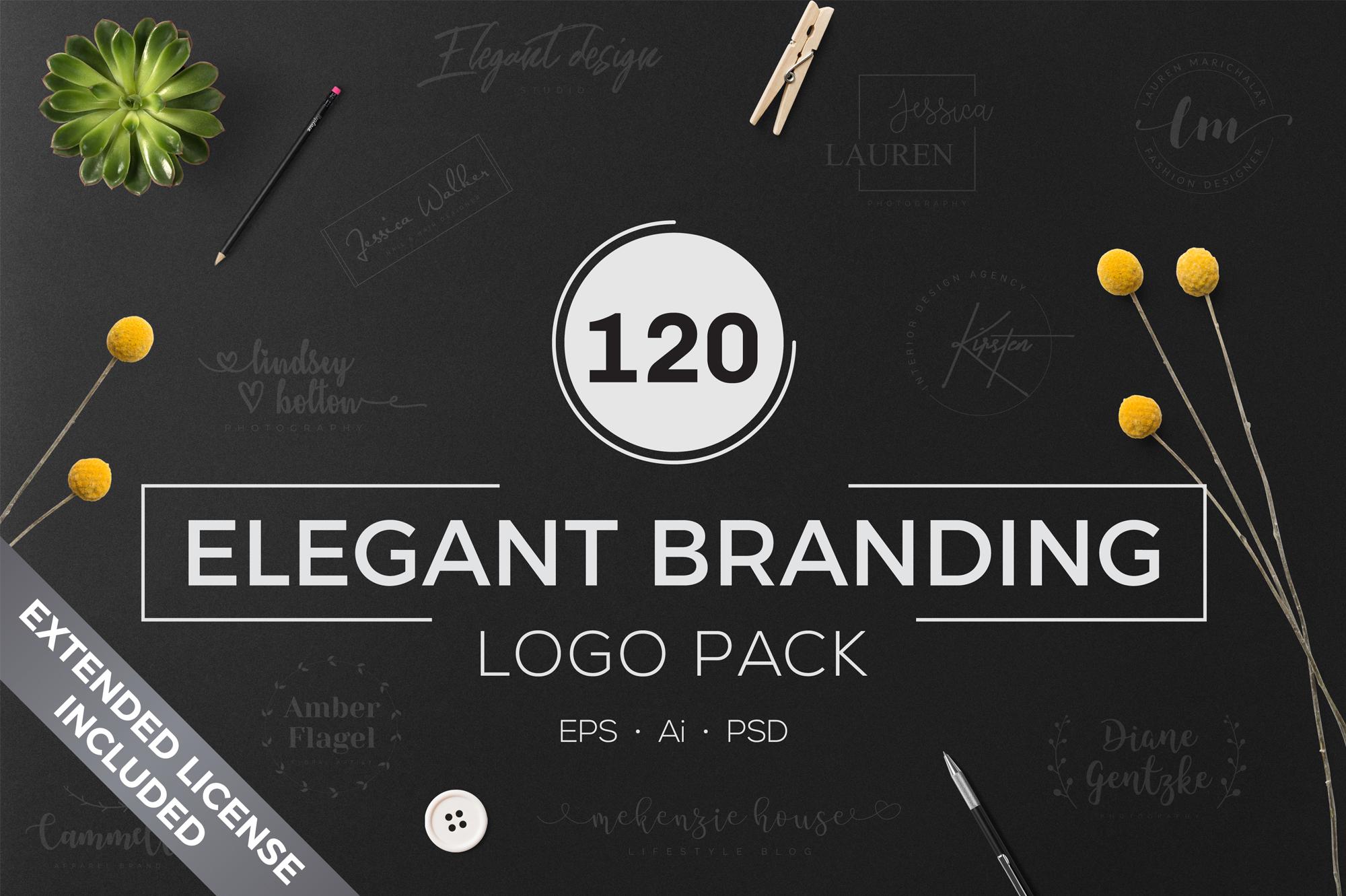 640 Premade Logos Mega Bundle example image 7