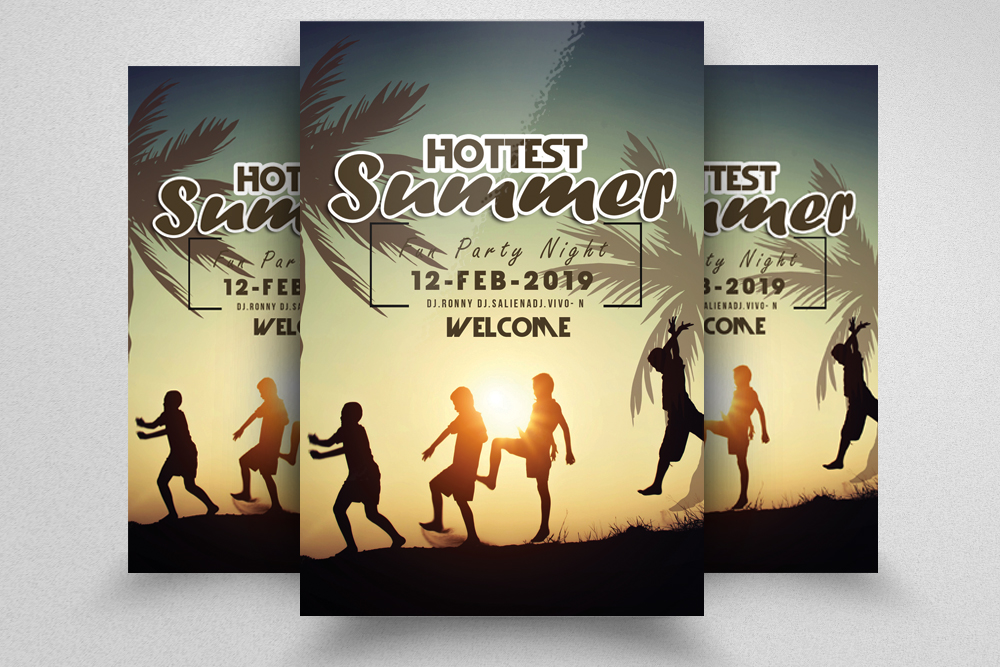 10 Summer Beach Fun Party Flyers Bundle example image 5