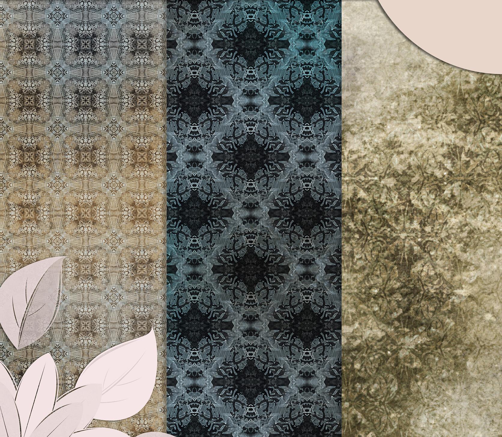 Beige-Blue Old Shabby Digital Backgrounds example image 6