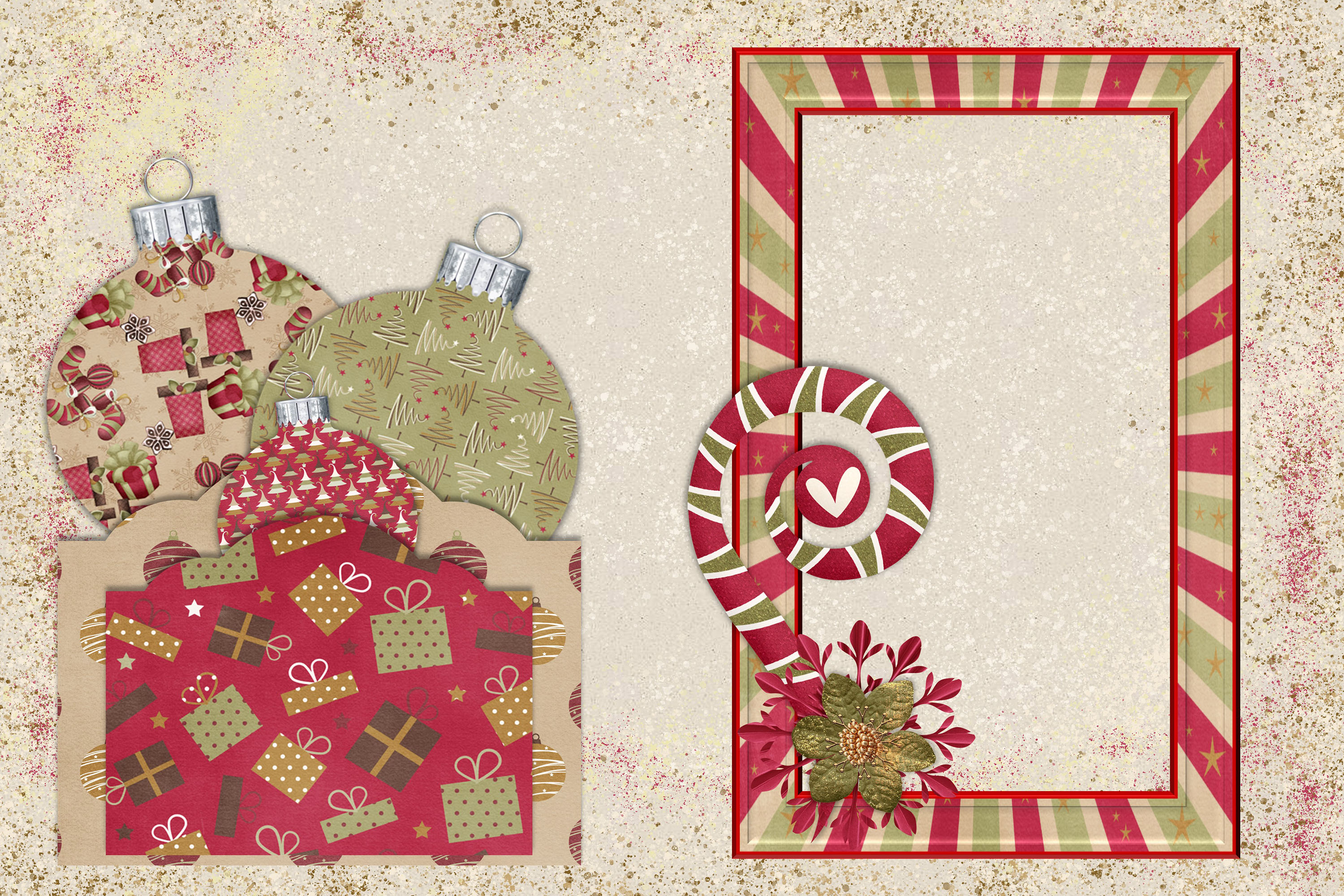 Christmas Journal Kit JPEG, PDF and PNG. Commercial Use example image 2