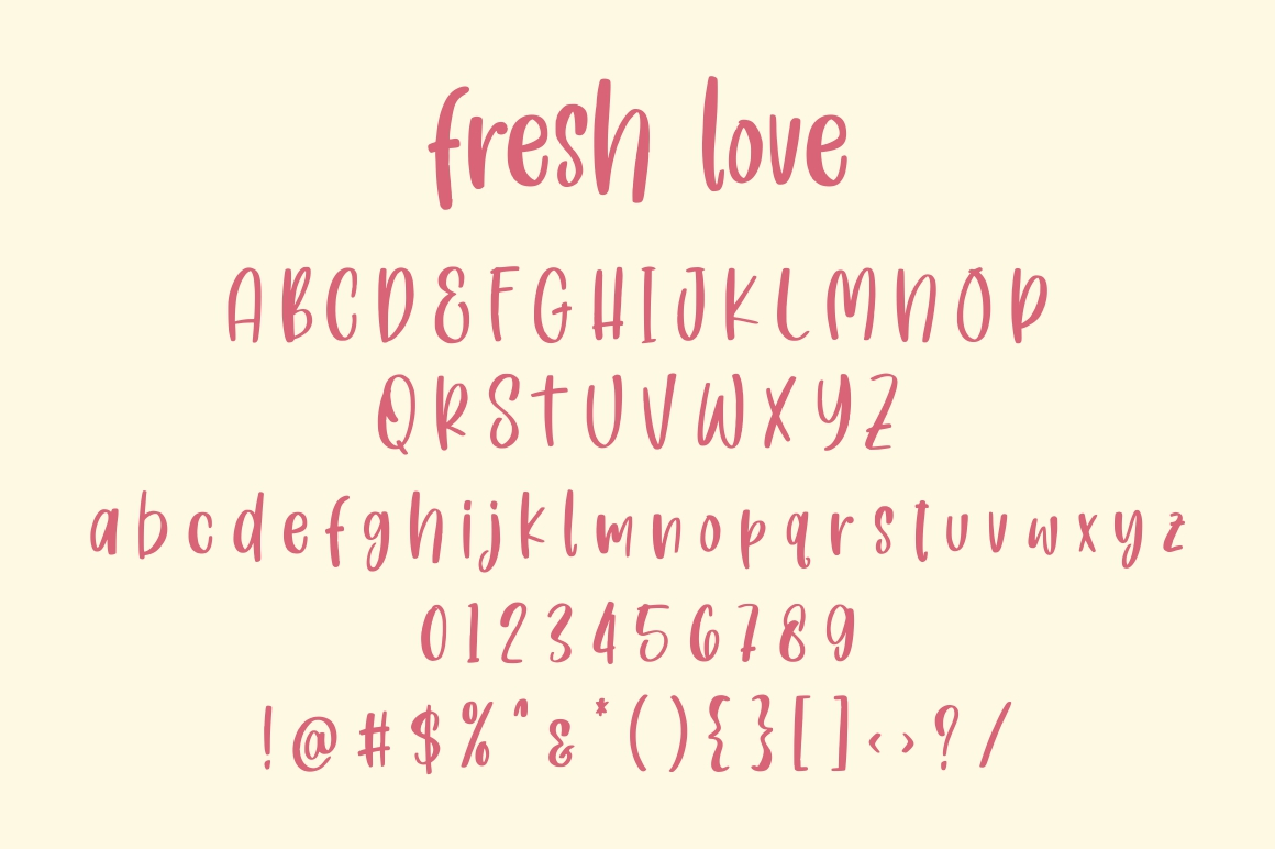 Fresh Love | Handdrawn Font example image 8