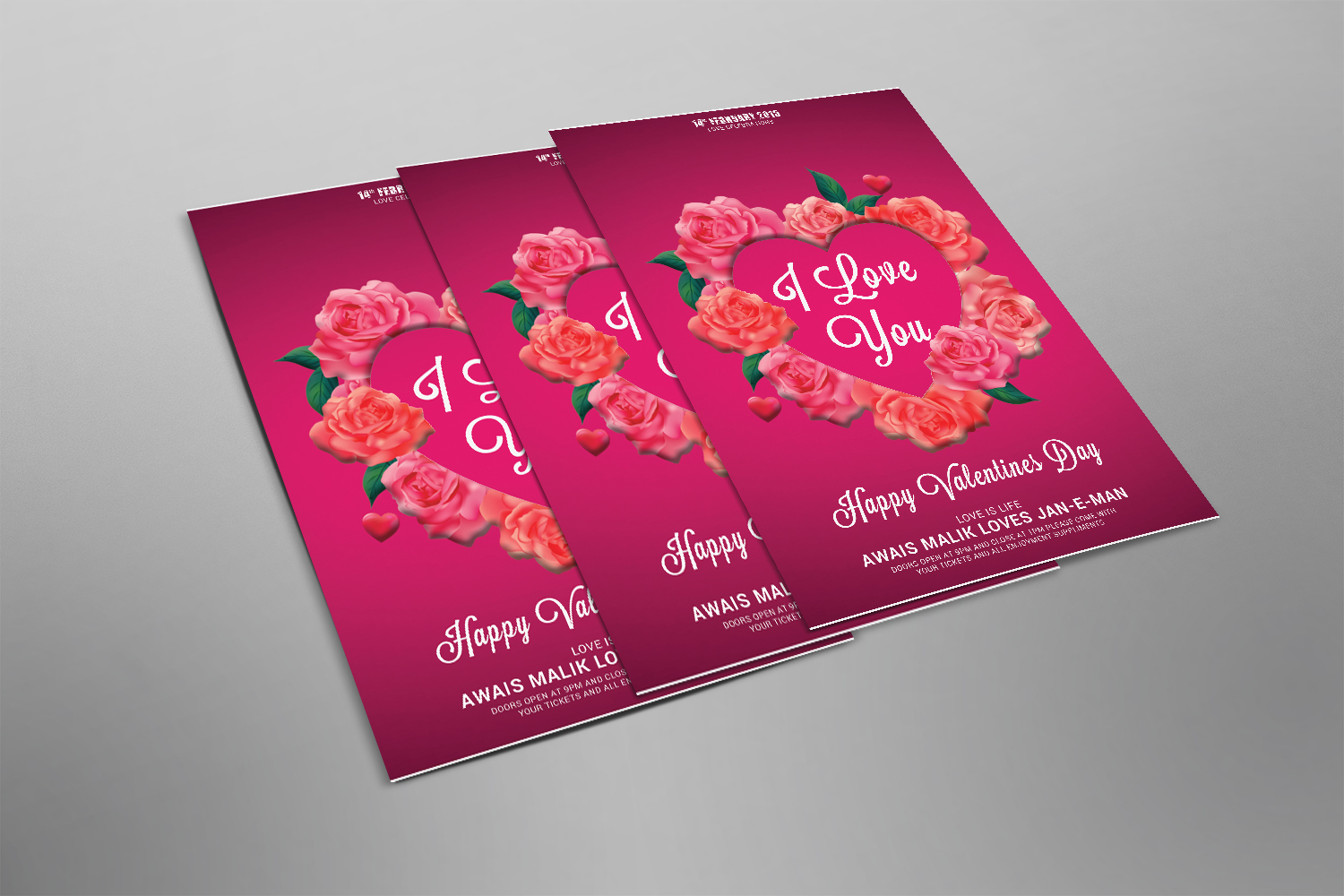 Valentines Psd Template example image 2