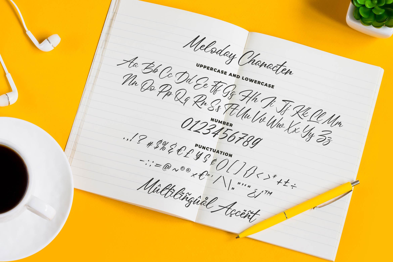 Meloday - Stylish Signature Font example image 5