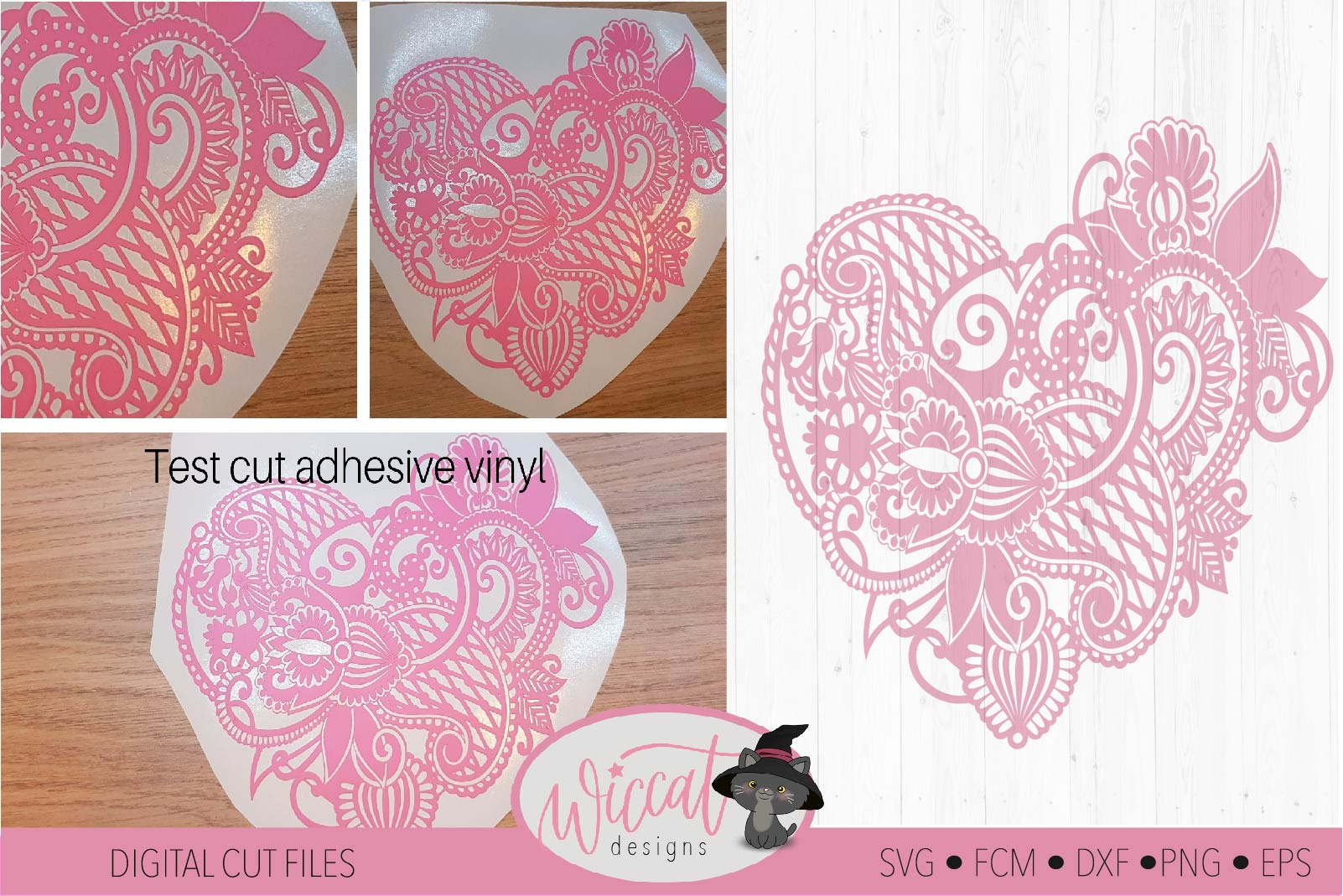 Paisley Heart, valentine doodle heart svg example image 2