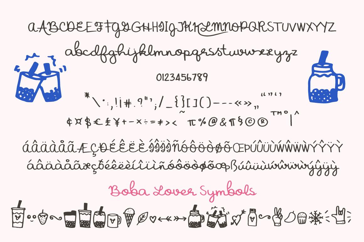 Boba Lover Script Font example image 4