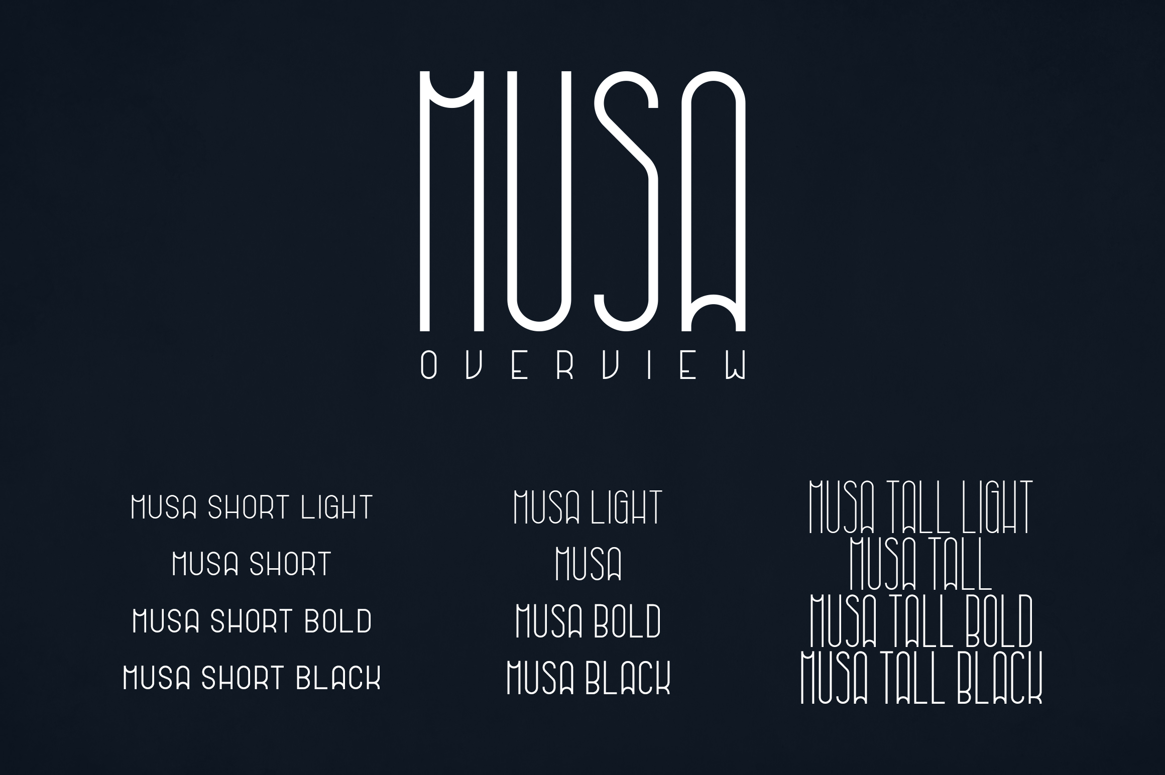 Musa Display Typeface - 12 fonts example image 2