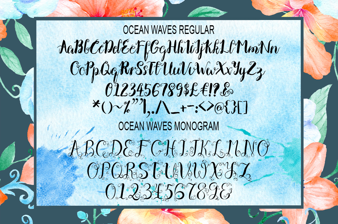 Ocean Waves Font Duo example image 2