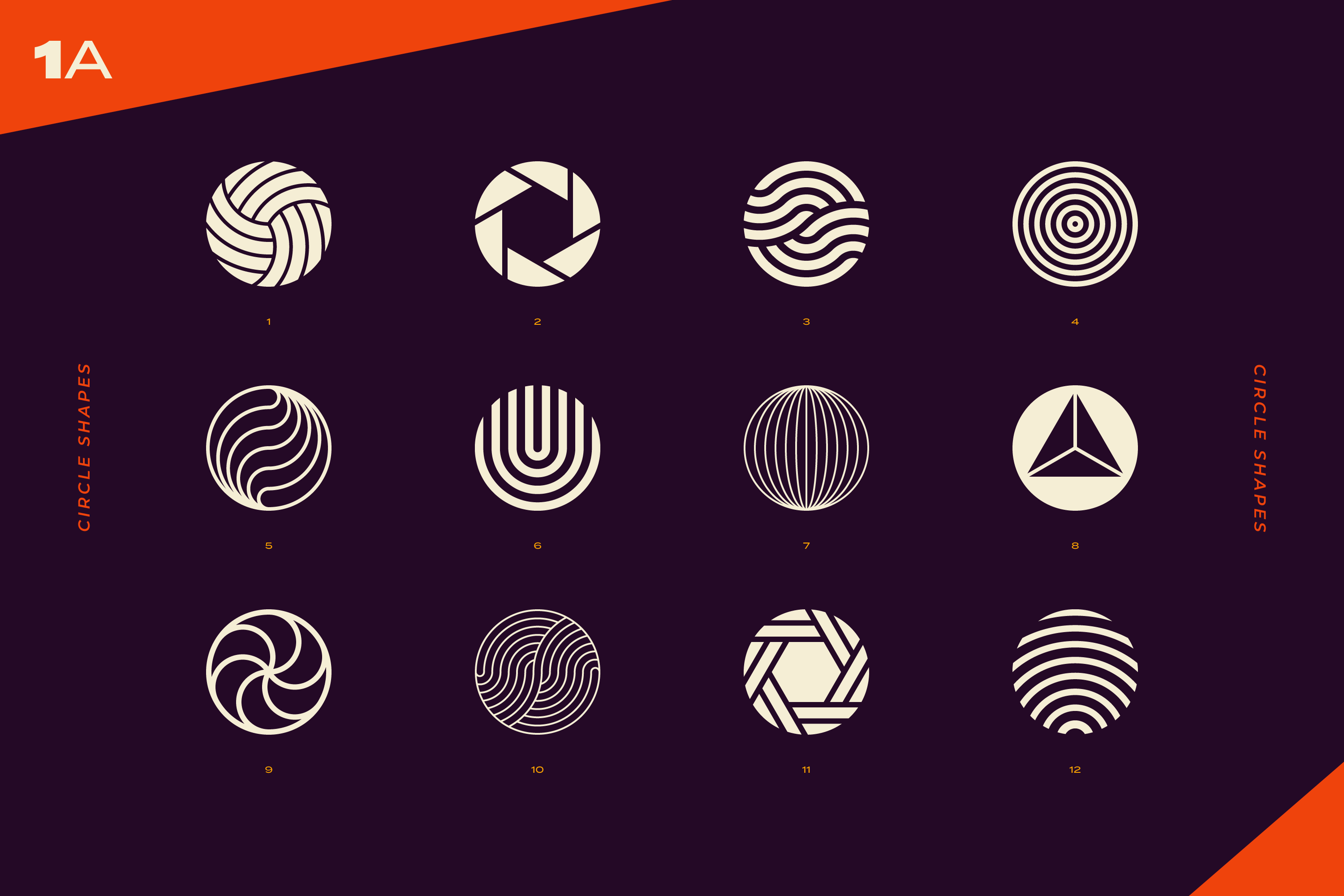 96 Abstract logo marks & geometric shapes collection example image 3