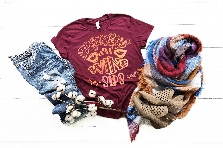 Wine svg bundle Alcohol SVG for t-shirt Design example image 4