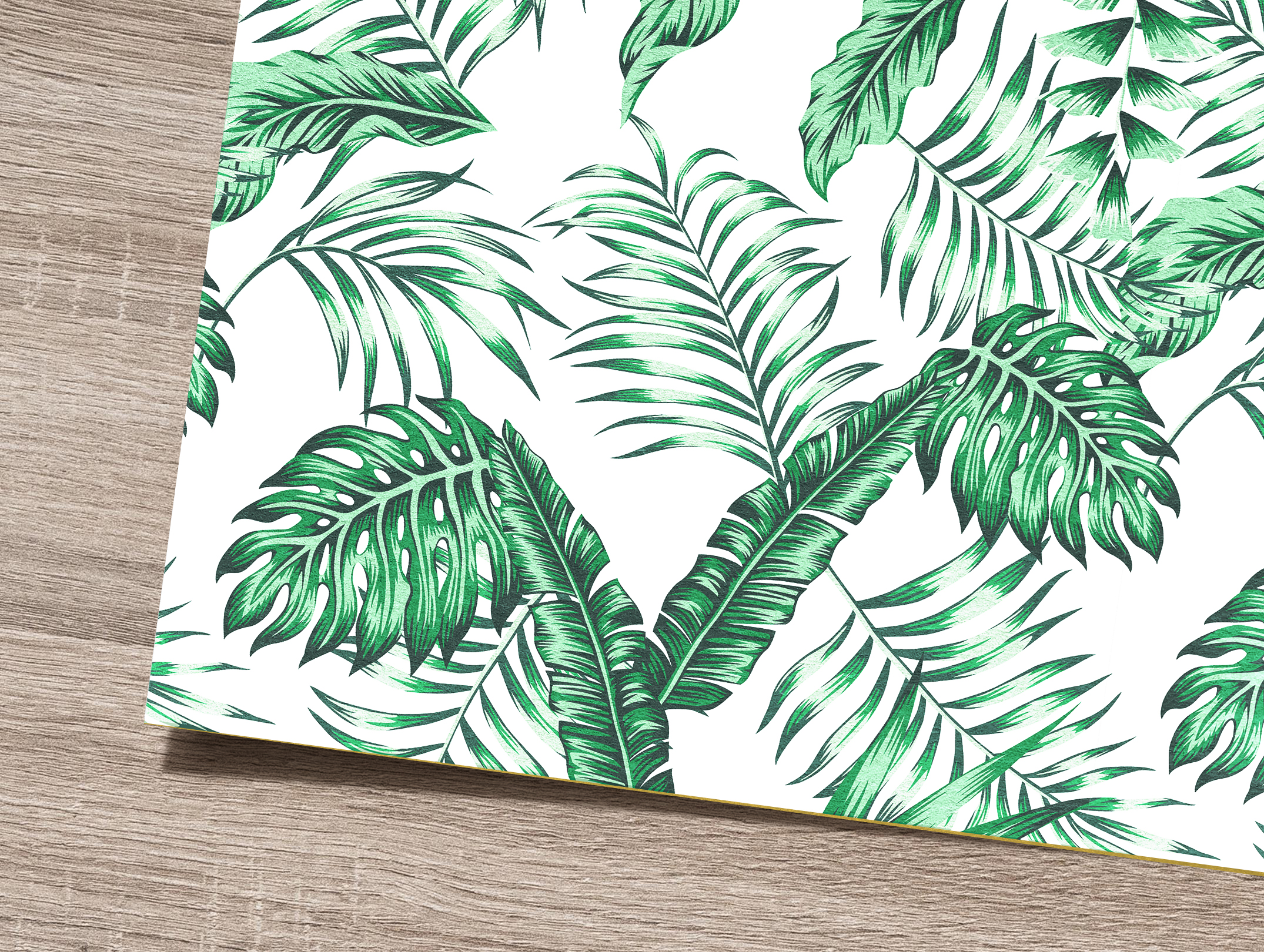 Tropical flowers and leaves pattern. Seamless design. example image 5