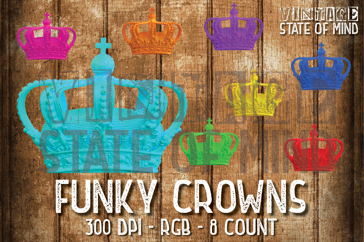 Funky Crown Sublimation Graphics example image 1