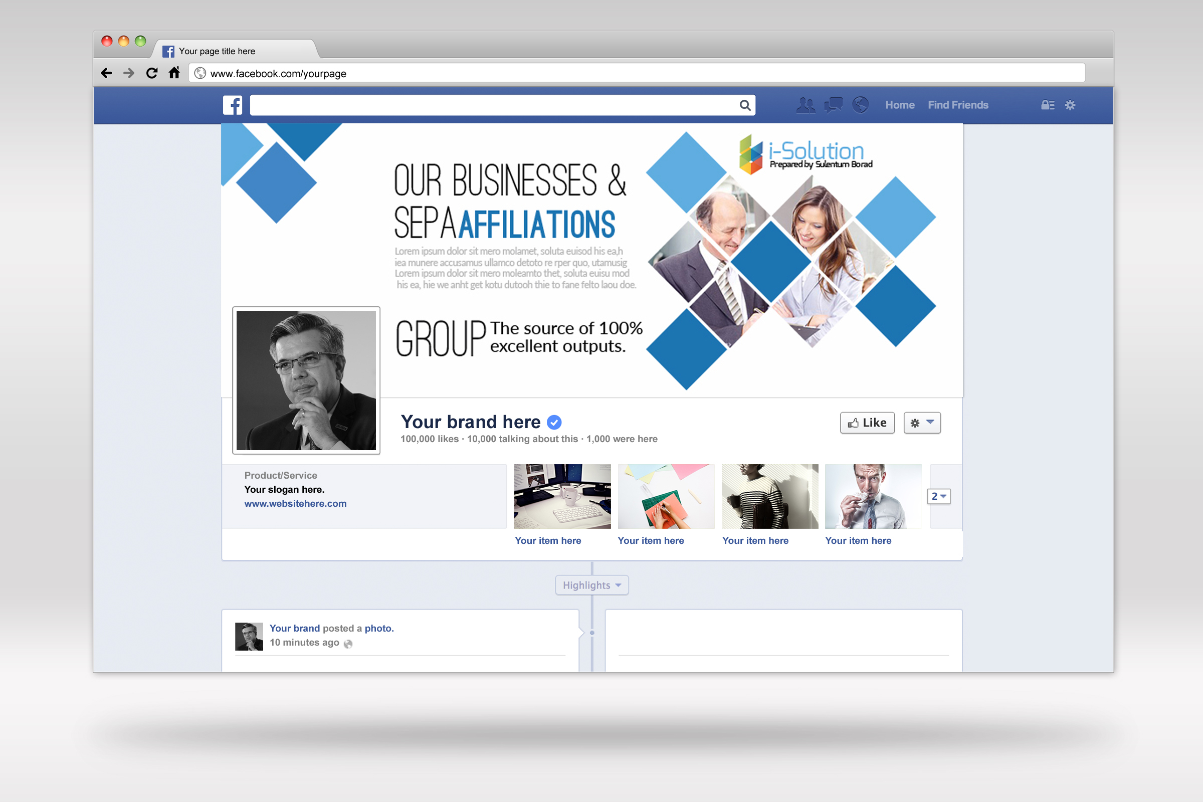 Business Facebook Timelines 08 example image 2