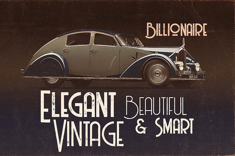 Billionaire - Display Font example image 4