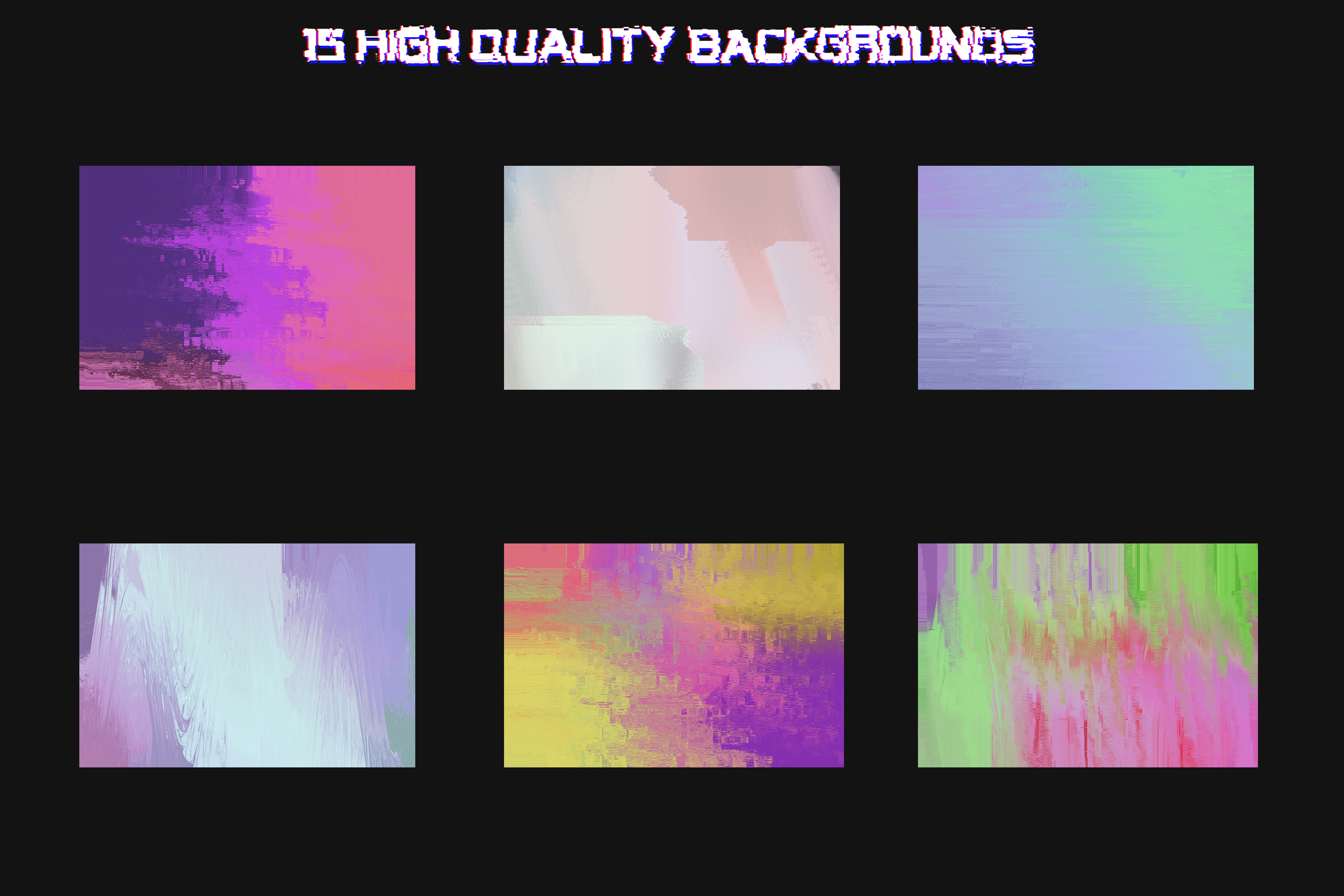 Corrupted - 15 Glitched Backgrounds Pack example image 3