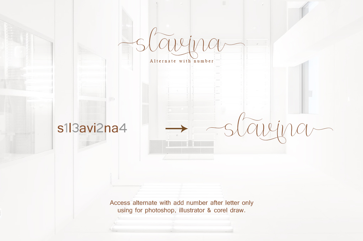 Slavina Script example image 7