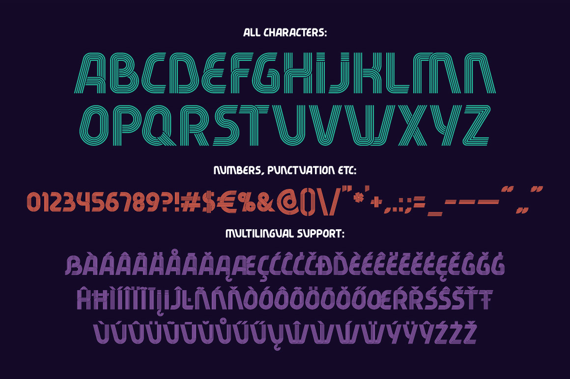 Fiver 5 fonts family example image 6