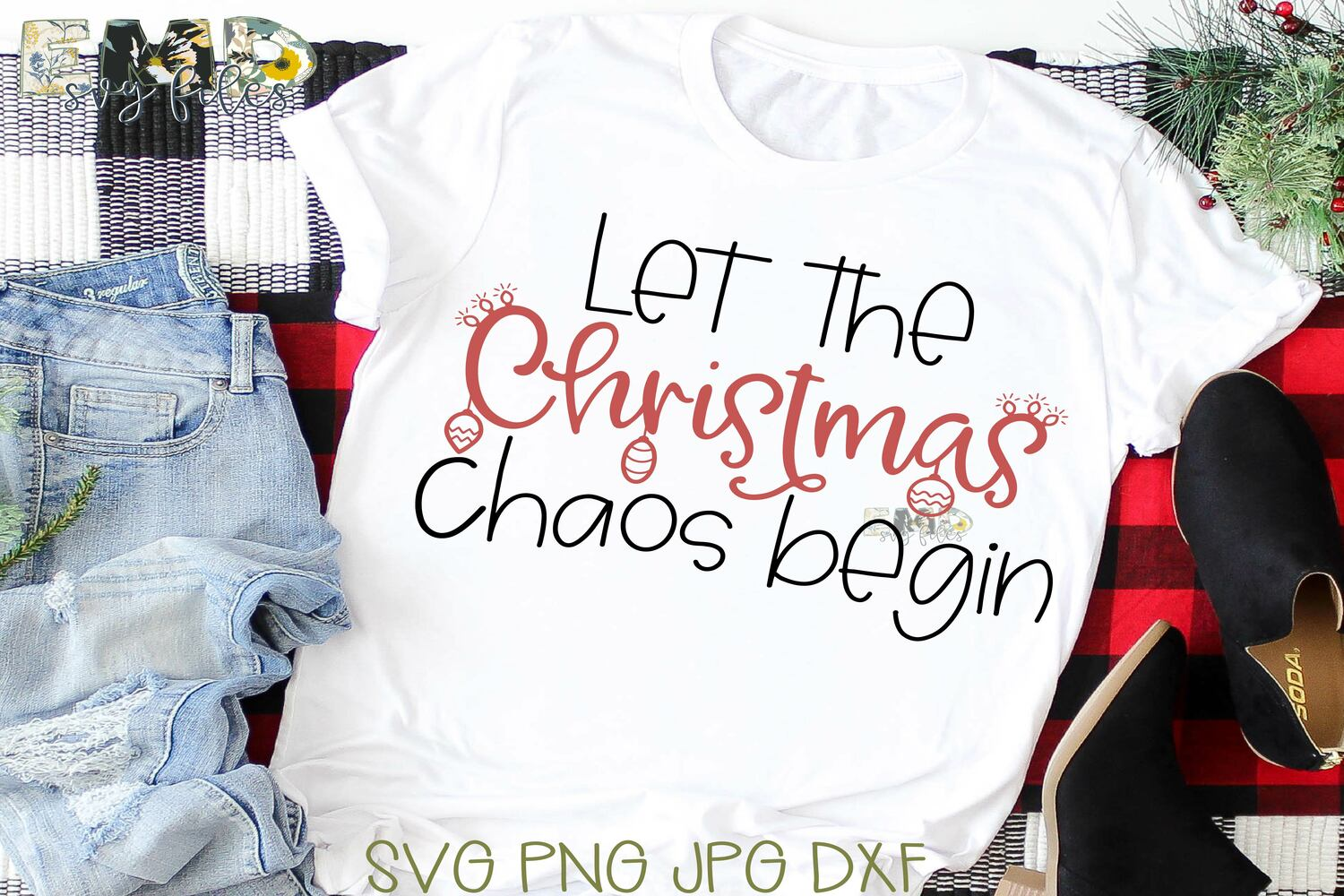 Christmas Humor Chaos Svg File | Holiday Svg example image 1