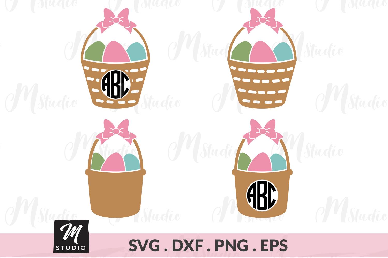 Easter Baskets monogram svg. example image 1