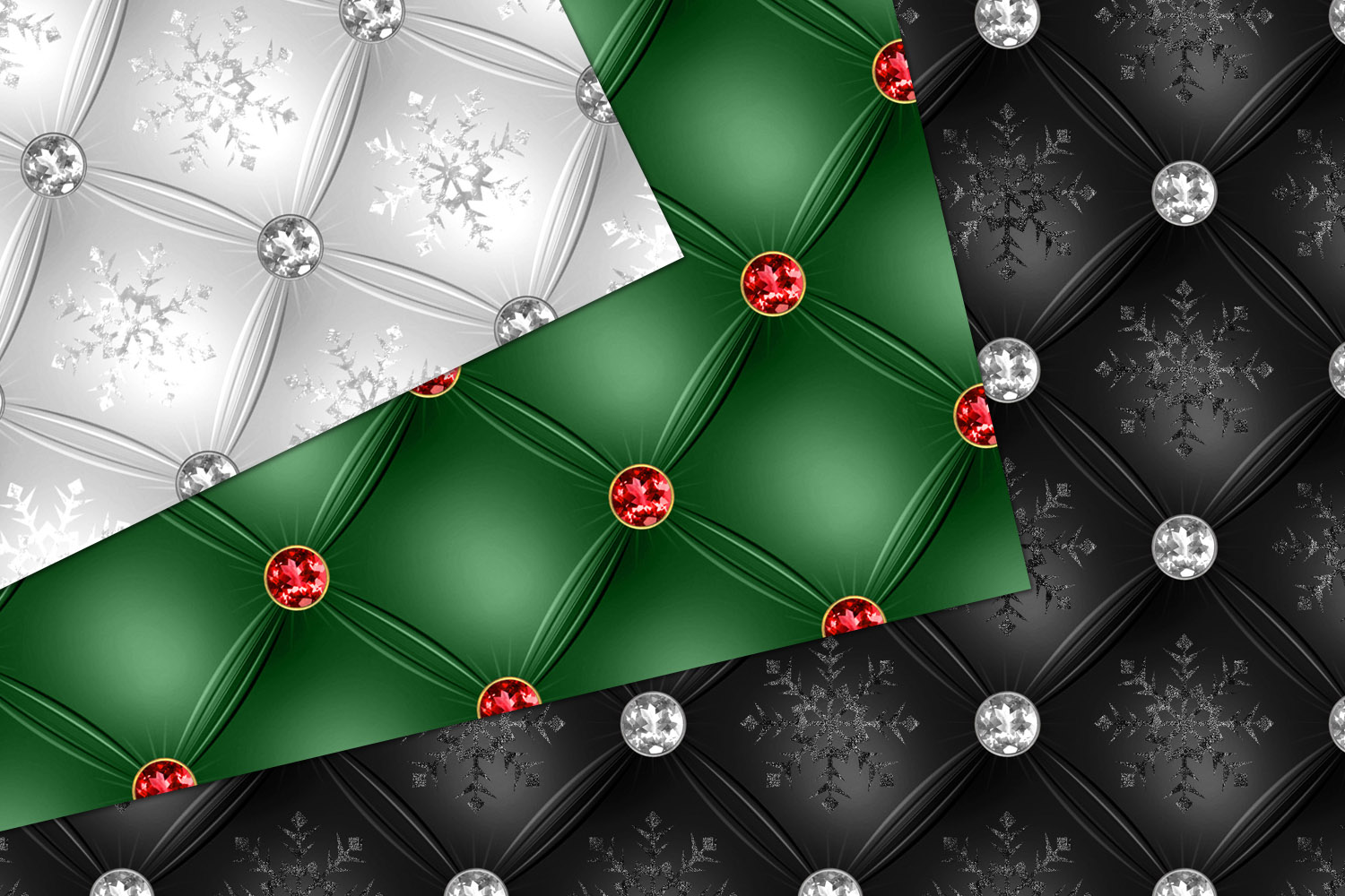 Tufted Christmas Digital Paper example image 2