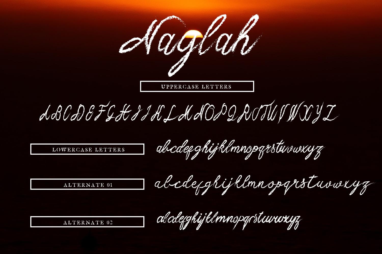 Naylah Script Brush Font example image 8