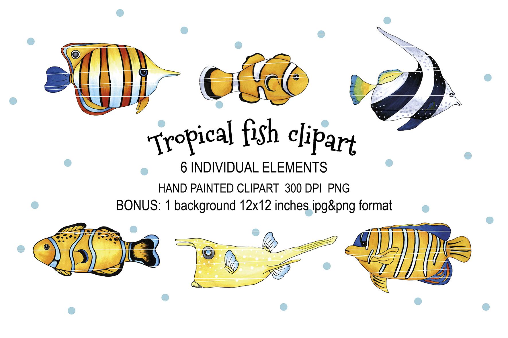 Tropical fish set example image 1