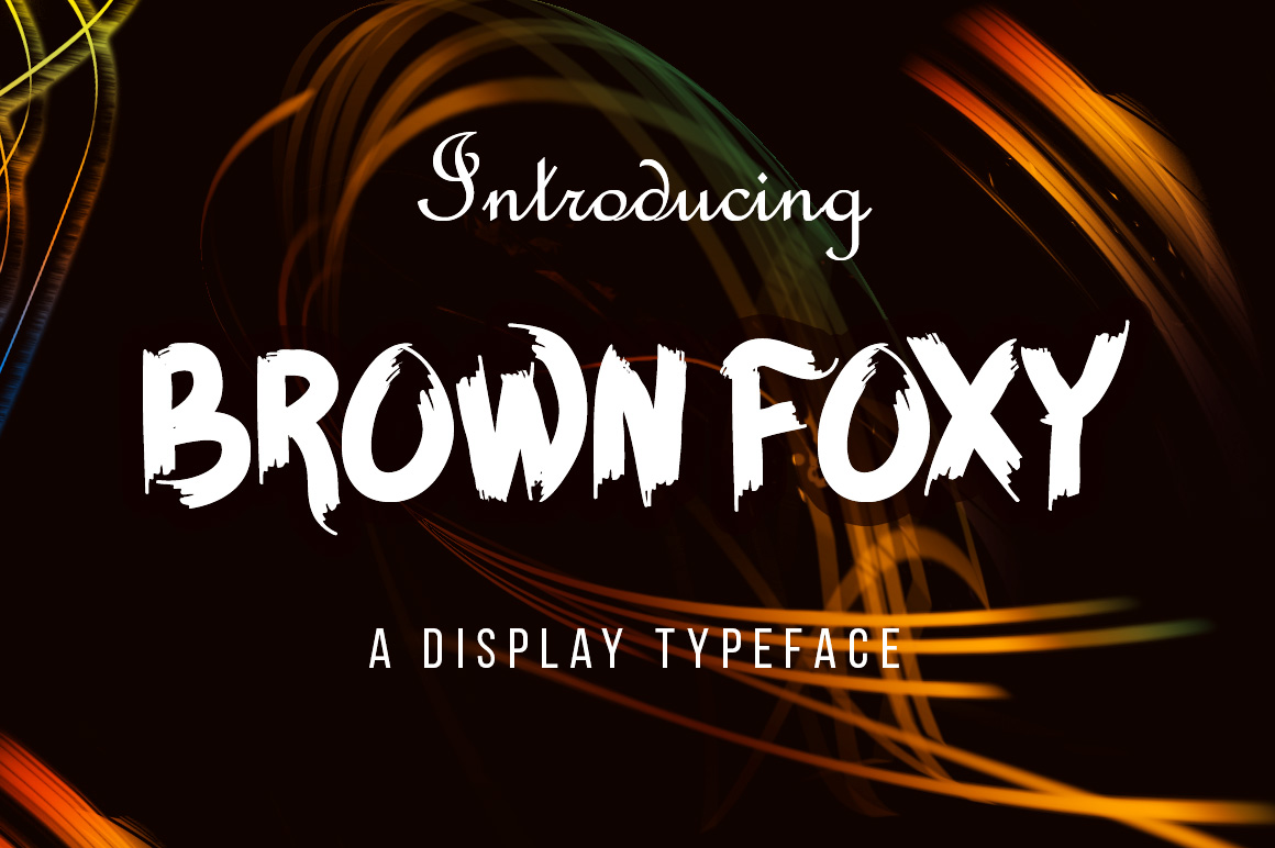 BROWN FOXY Typeface example image 2