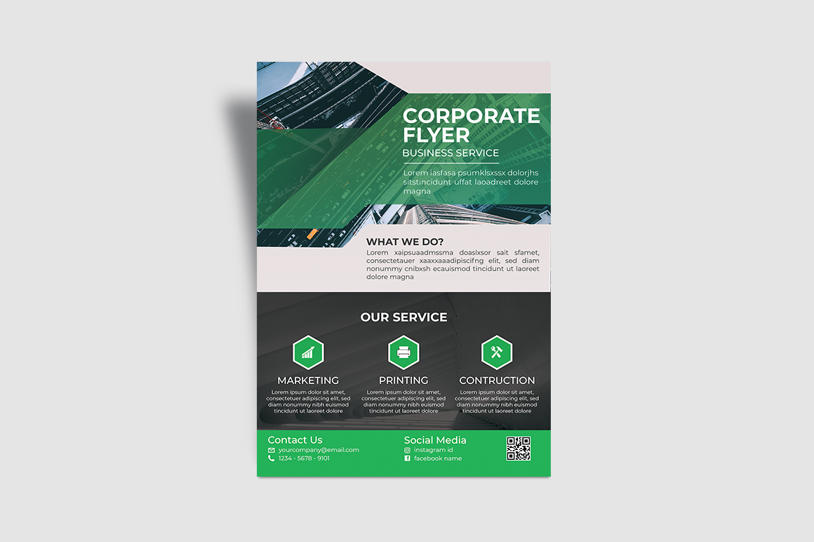 Service Corporate Flyer example image 3