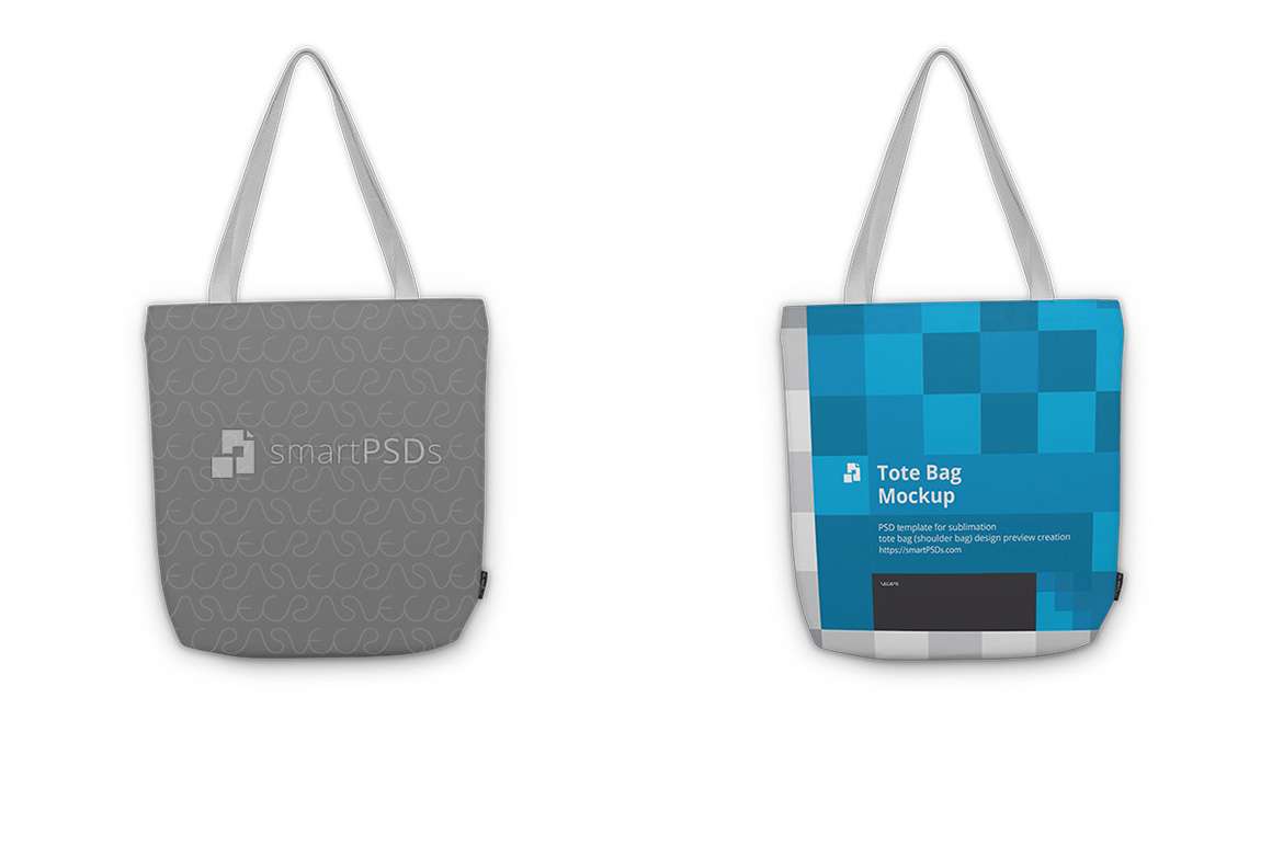 Tote Bag Sublimation Design Mockup - 5 Views example image 1