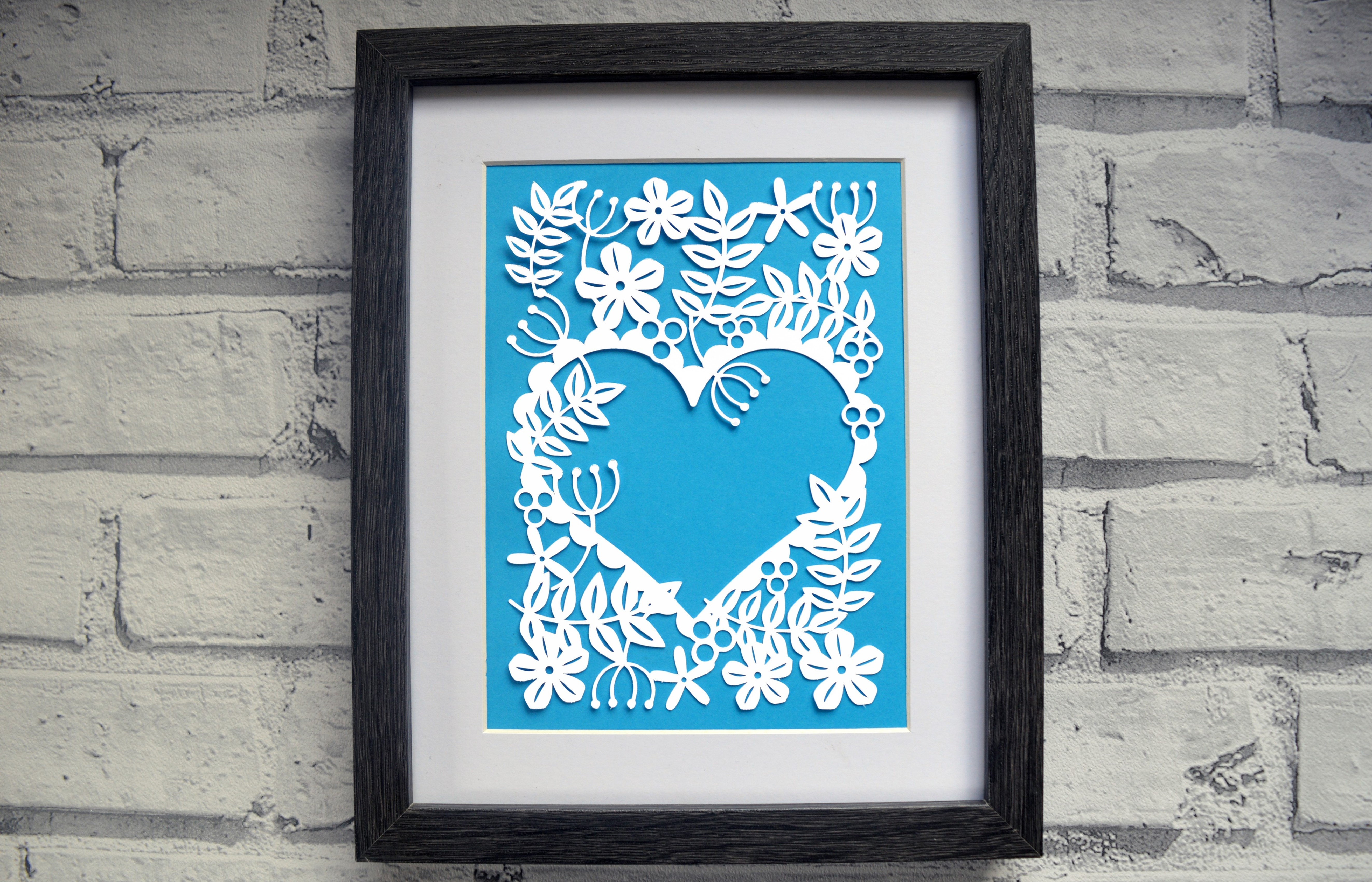 Heart Of Flowers Paper Cut SVG / DXF / EPS File example image 2