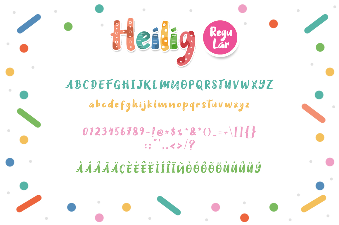 Heilig Display 3 Font example 4