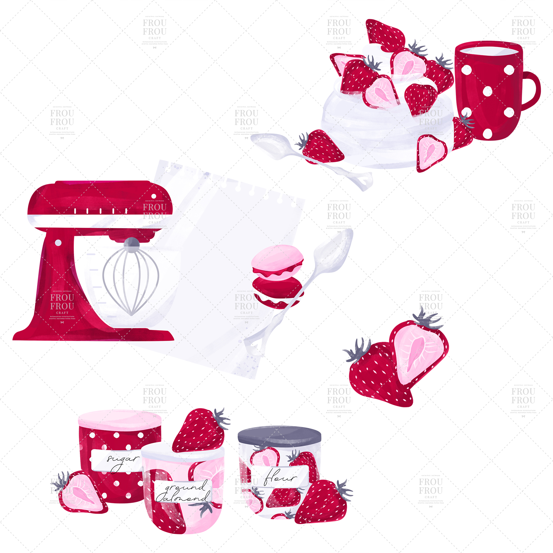 Cooking Bakery Strawberry Kitchen Clip Art example image 7
