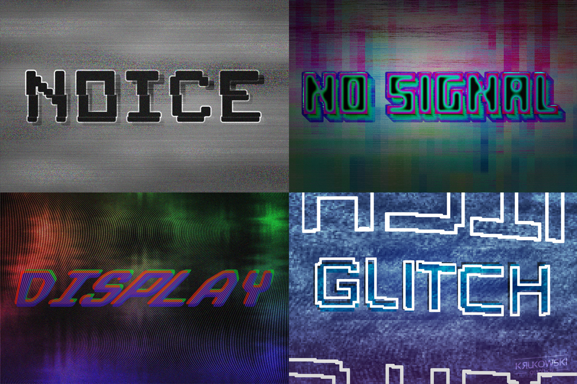 Digital Distortion Text Effects example image 2