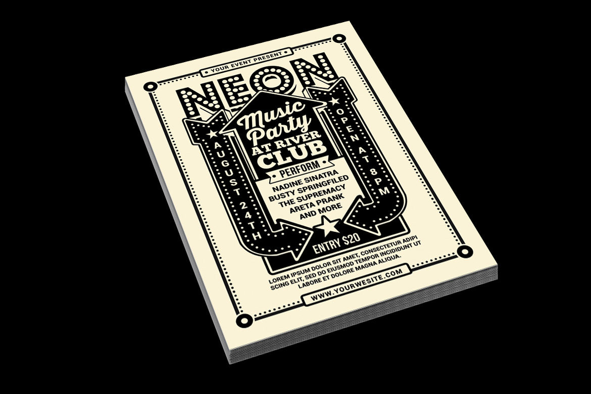 Vintage Neon Music Party example image 2
