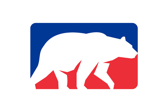 Grizzly Bear Walking Silhouette Rectangle Retro example image 1
