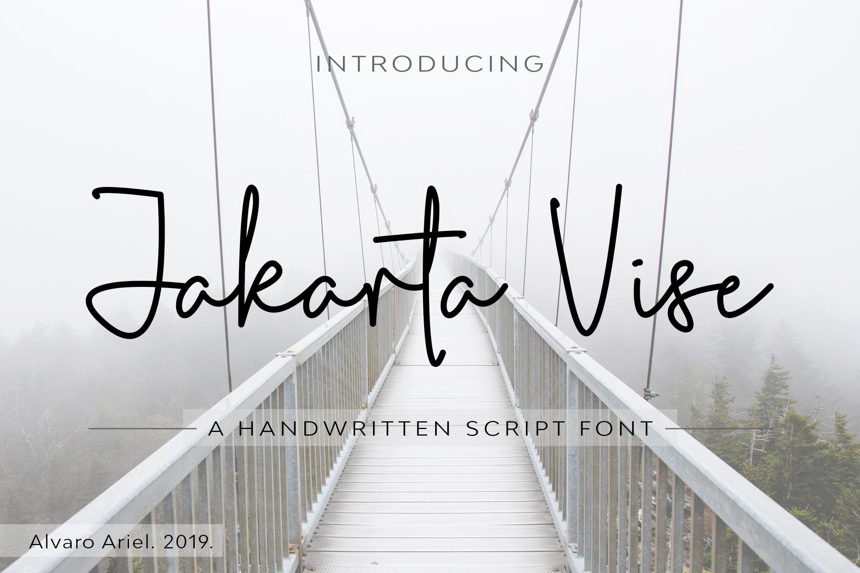 Jakarta Vise | Handwritten Script Font example image 1