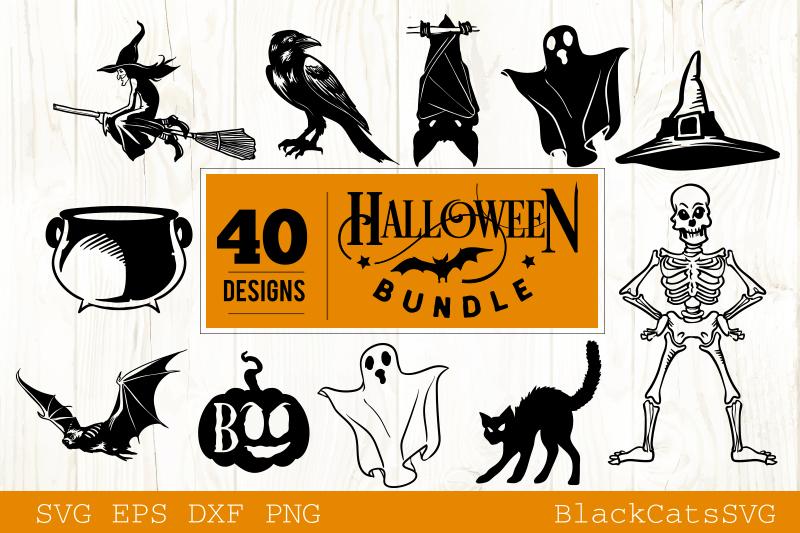 Halloween SVG bundle 40 designs vol 2 example image 5