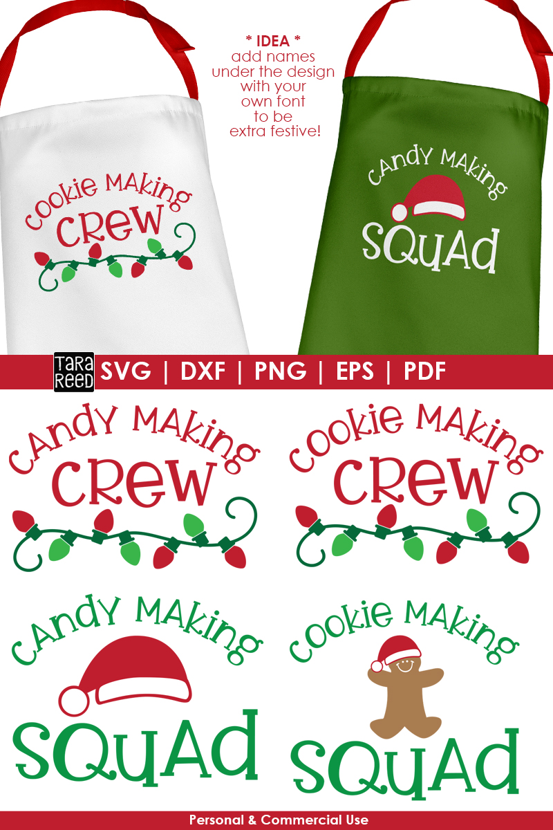 Christmas Cookie and Candy Making Crew - SVG & Cut Files example image 2