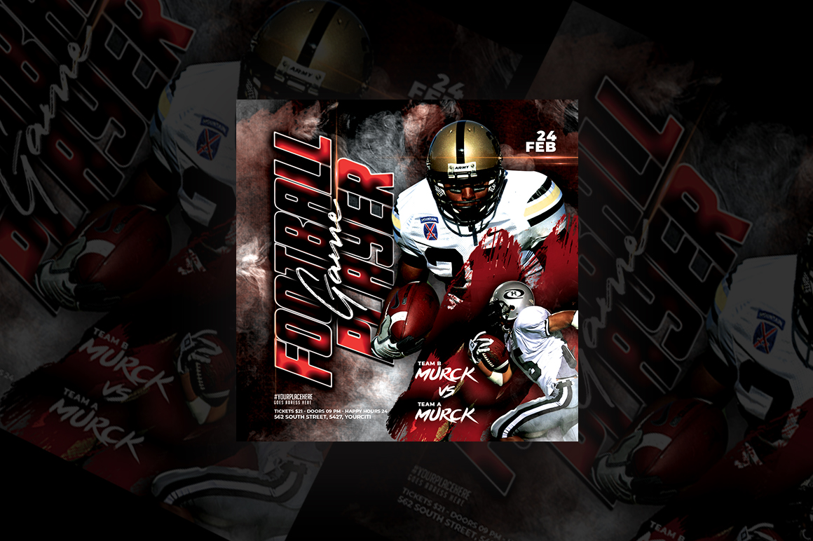 Football Game Player Flyer example image 1