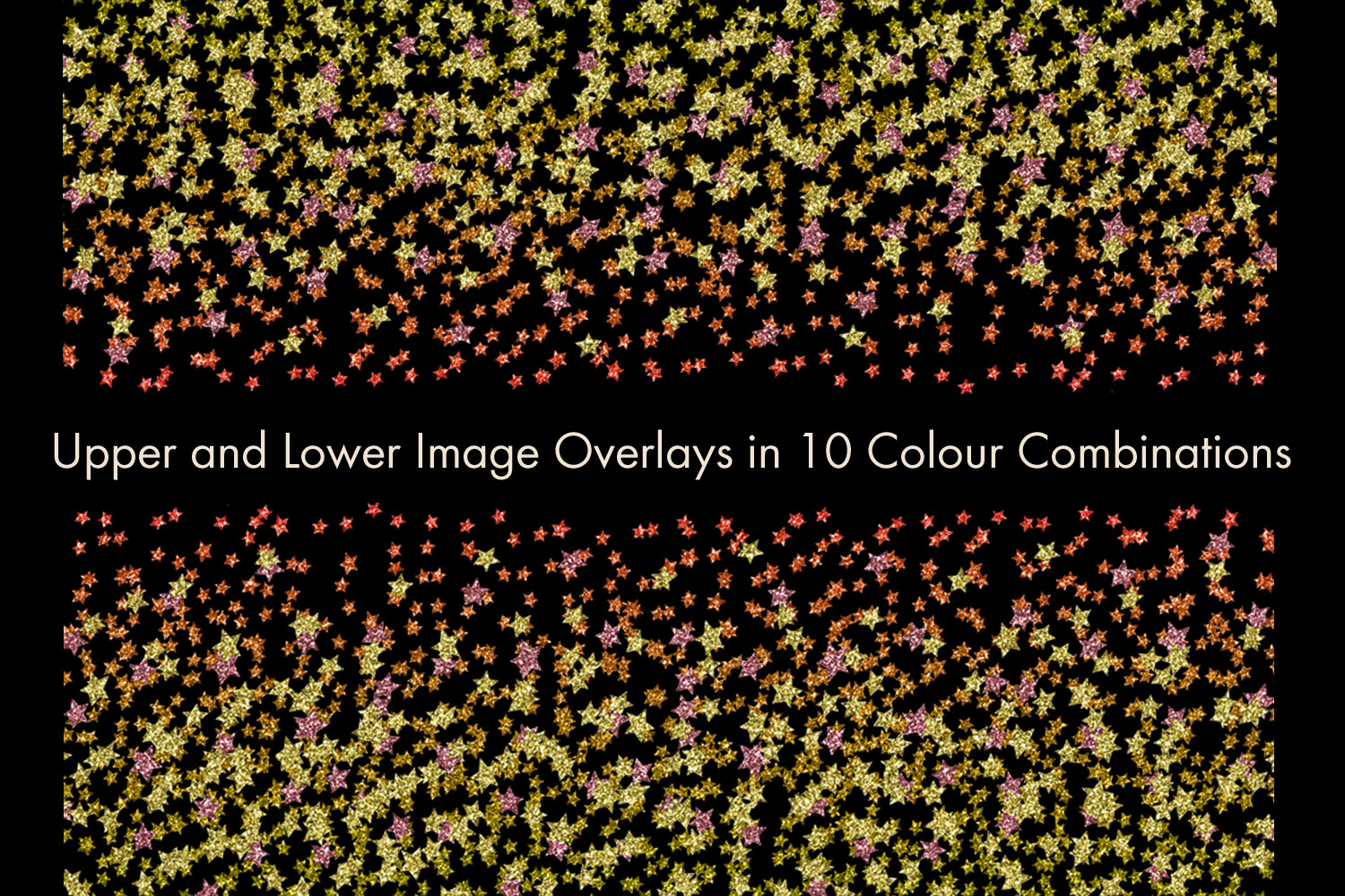 Glitter Star Confetti Overlays - A Scattering of Stars example image 2
