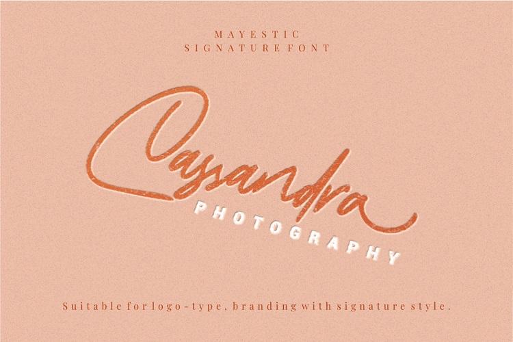Mayestica - Luxury Signature Font example image 4