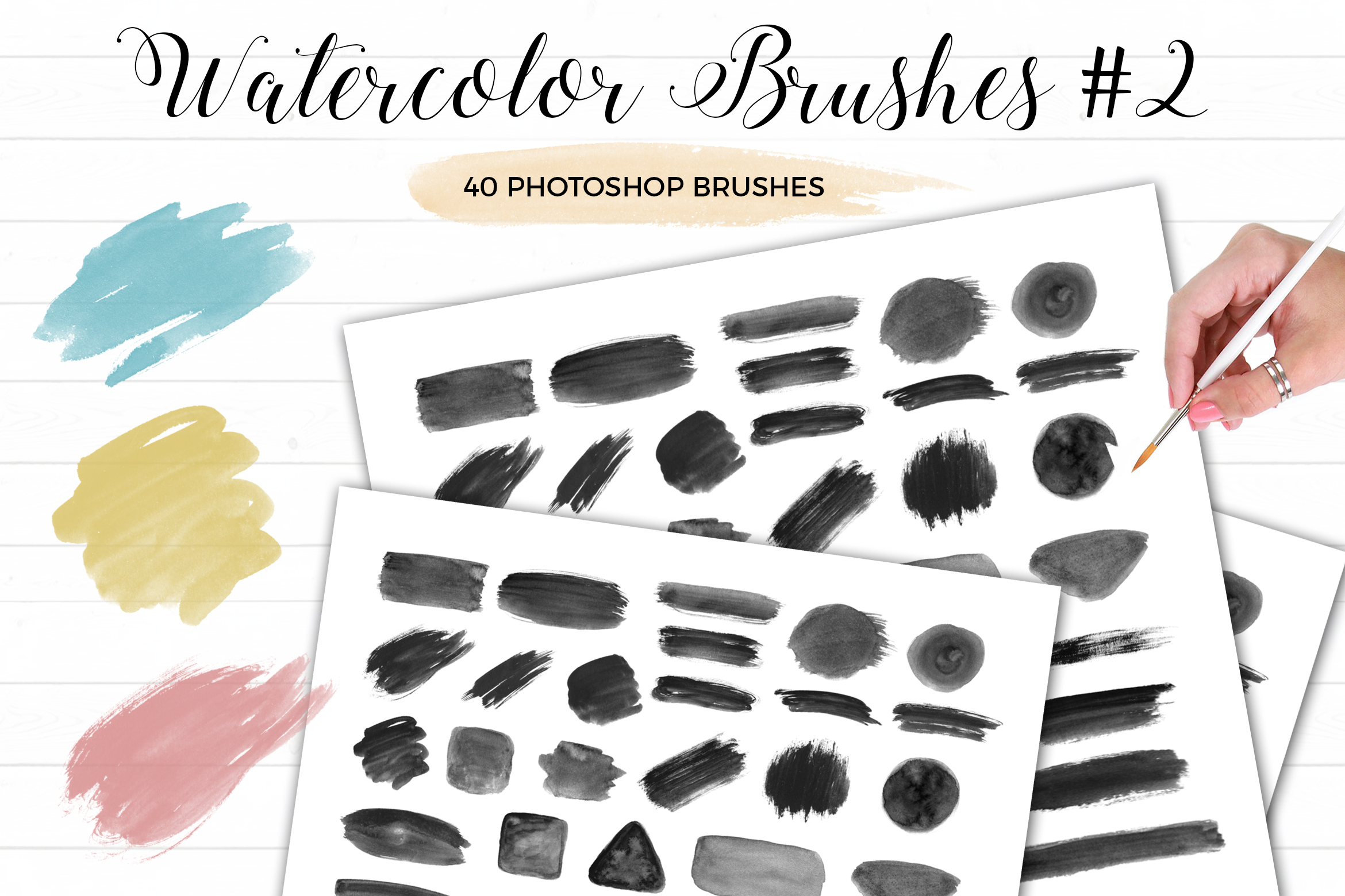 Watercolor Photoshop Brushes #2 example image 1