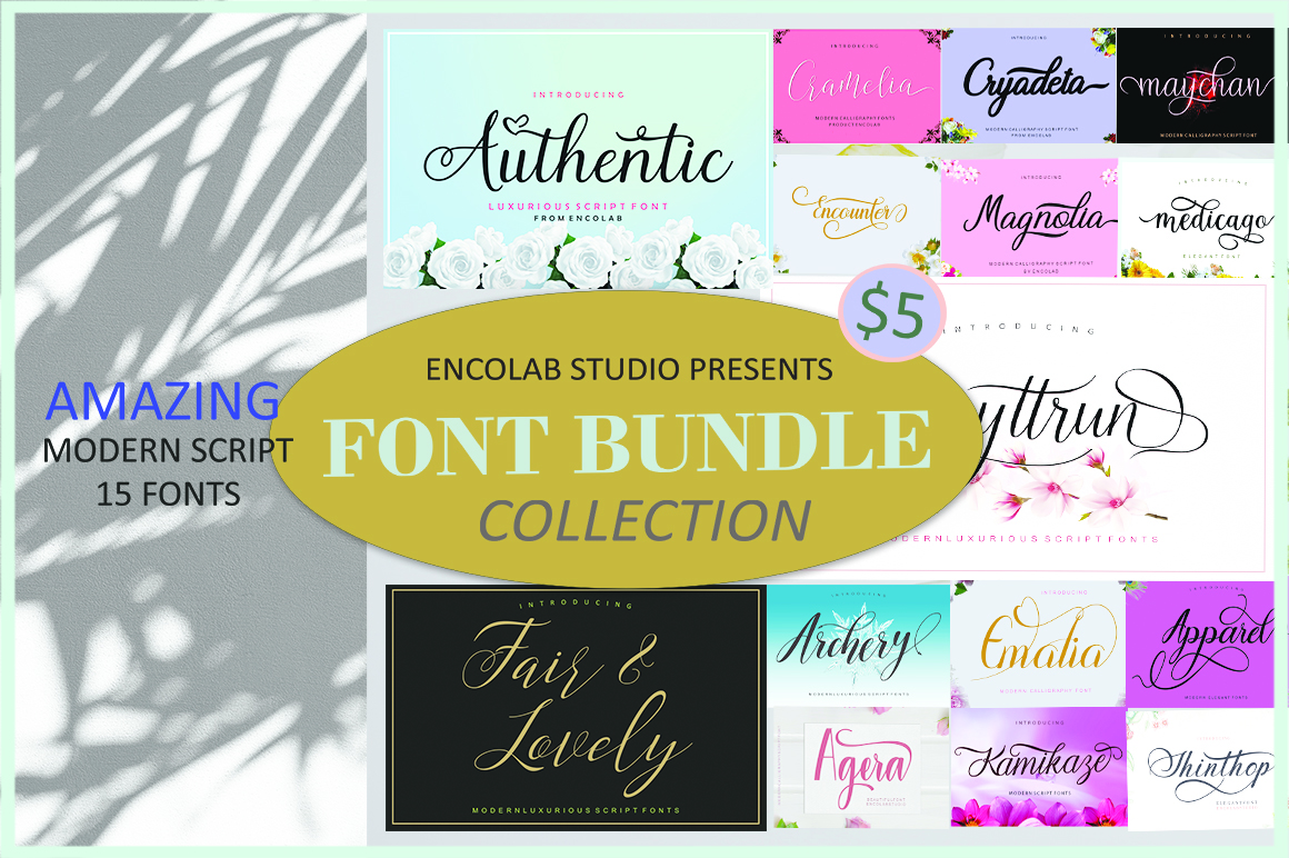 Font bundle collection example image 1