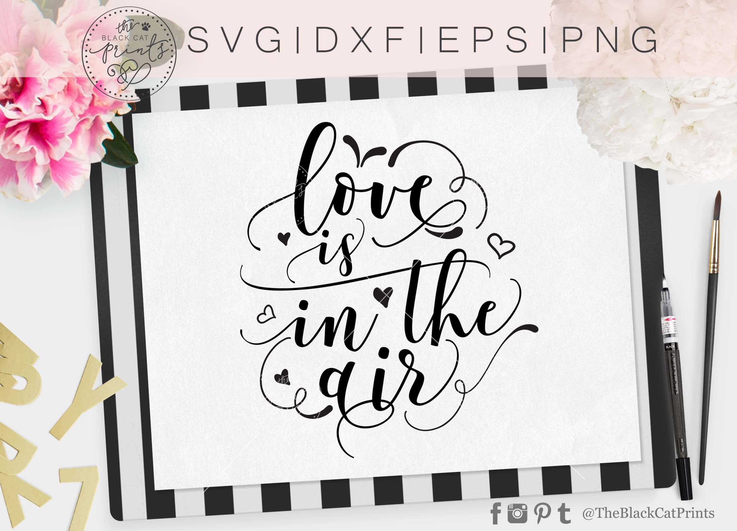 Love is in the air SVG DXF PNG EPS example image 3