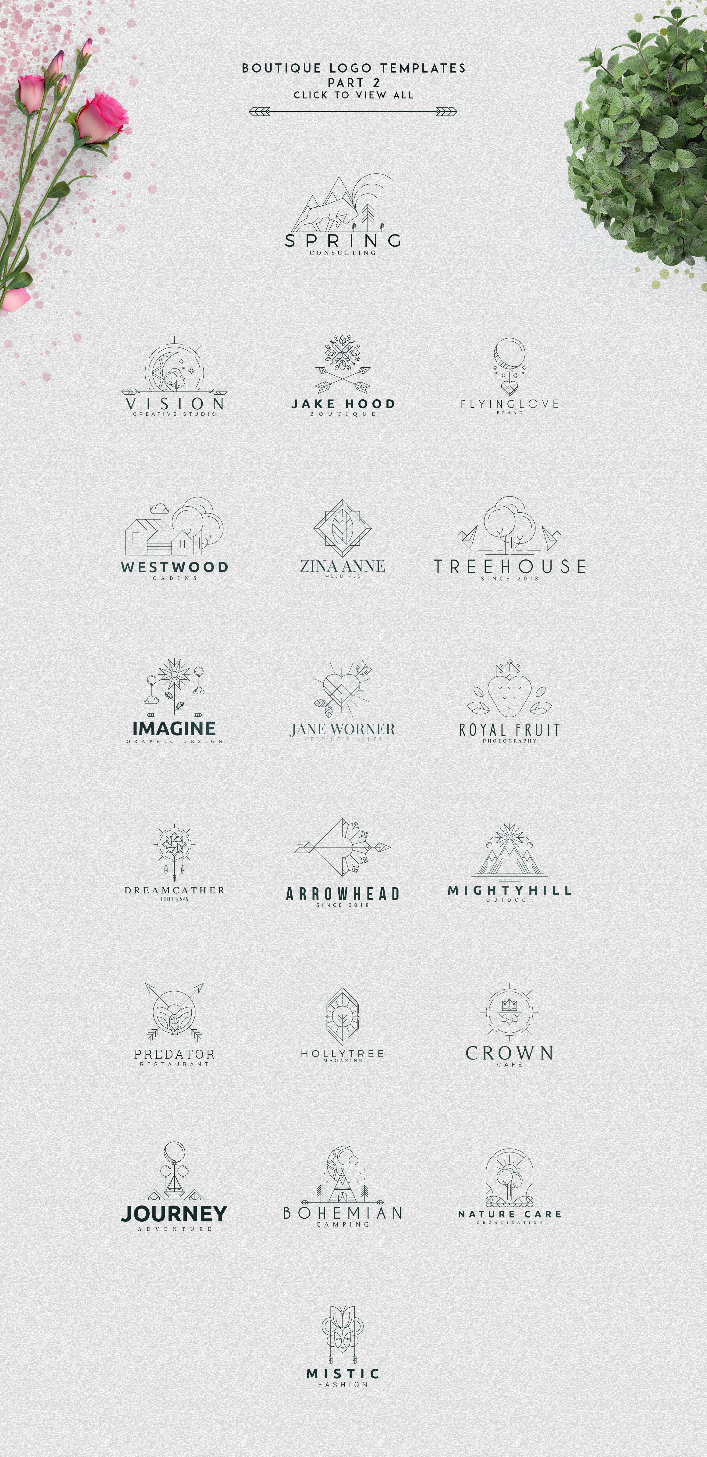 [Spring Vibes] 40 Boutique Logos example image 12
