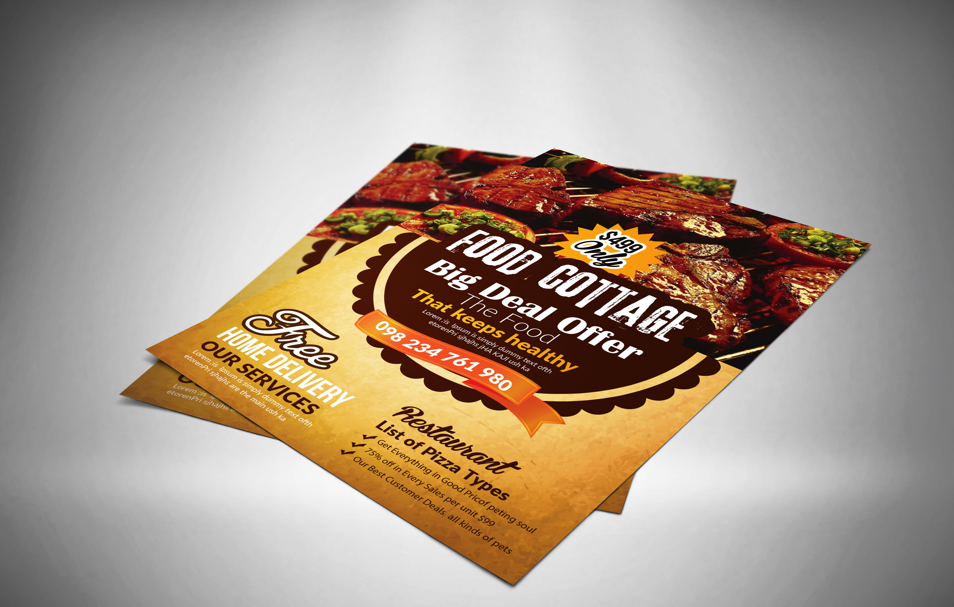Restaurant Flyer Template example image 3