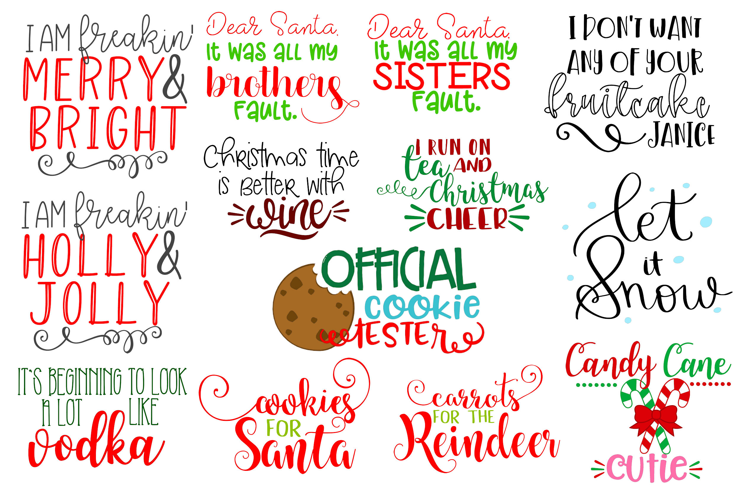 The Christmas Bundle - 30 Designs And 5 Mockups! example image 3