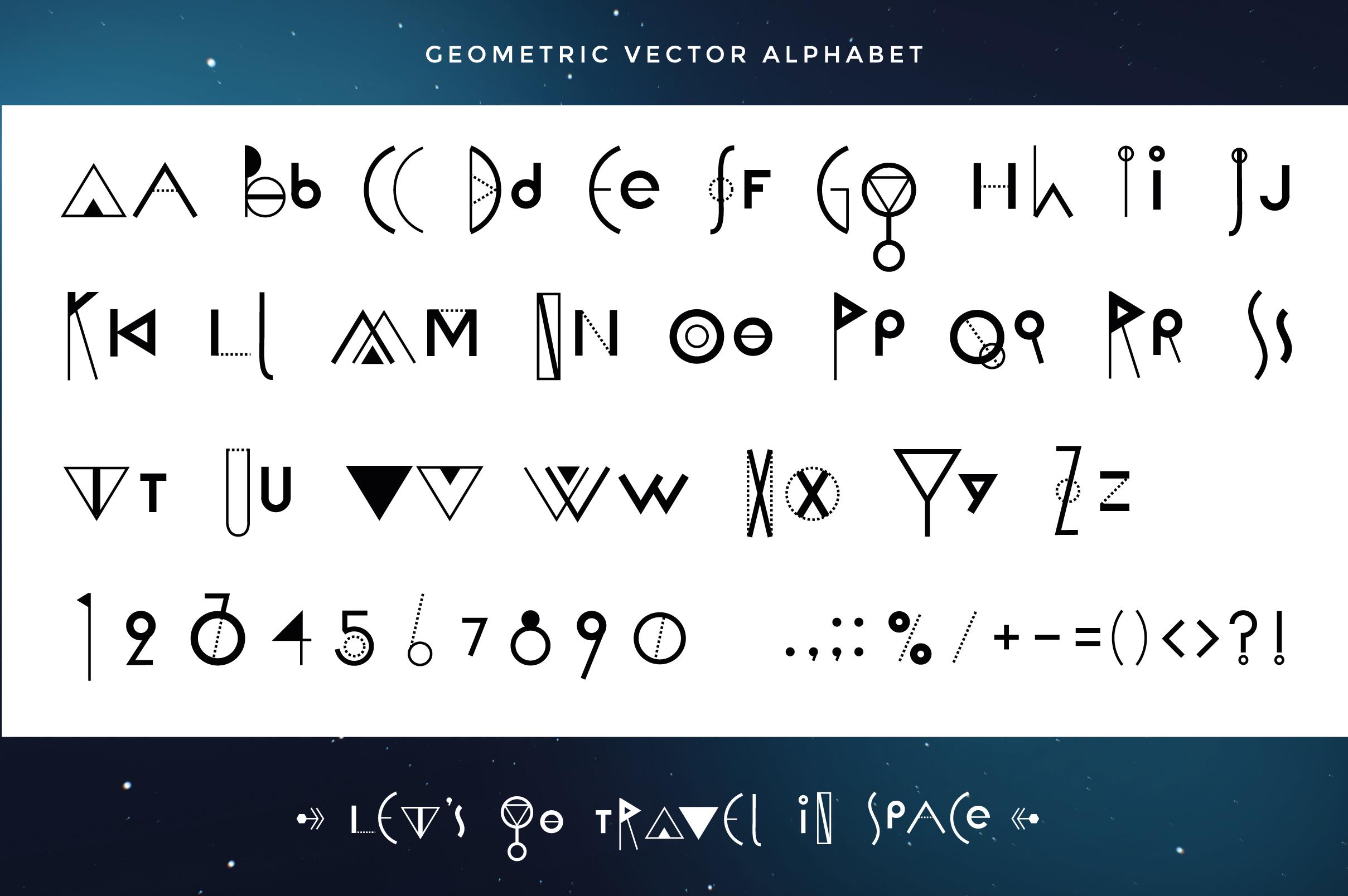 Vector Geometric Set example image 6