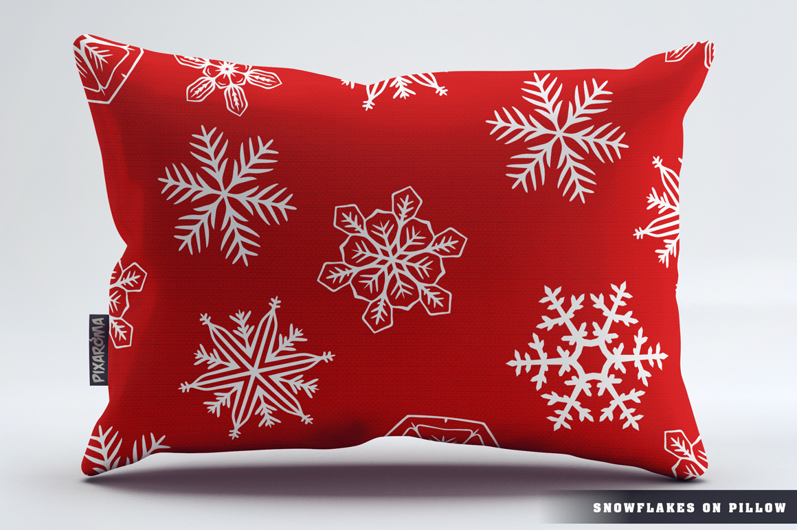 500 Snowflake Vector Ornaments example image 9