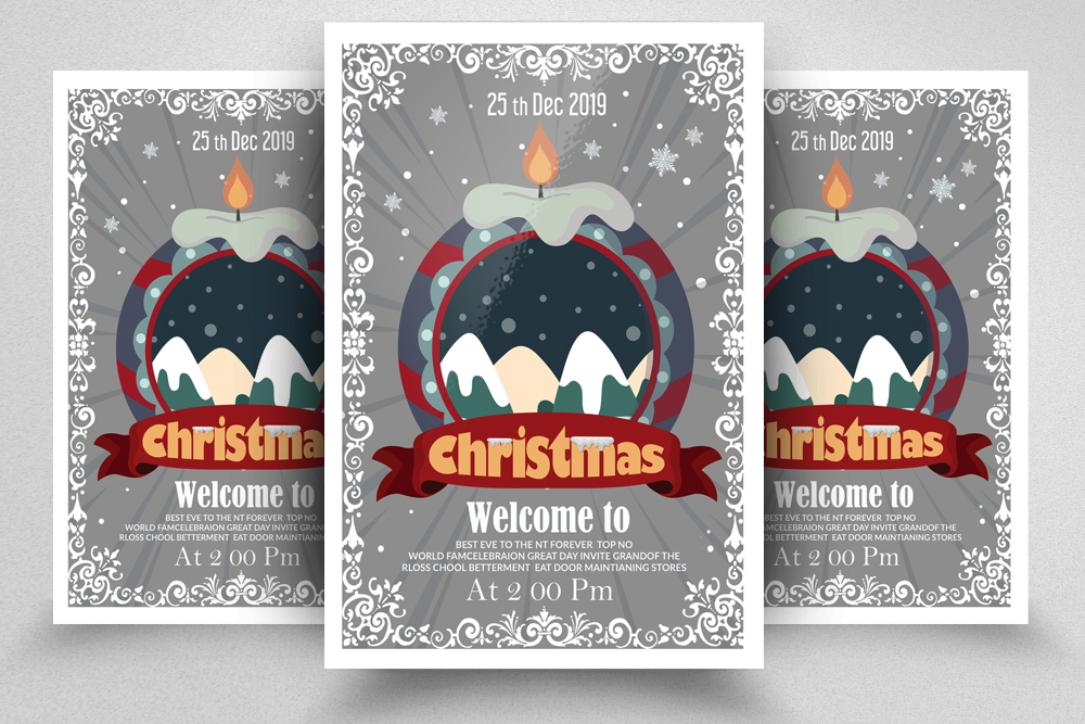 Christmas Party Night Flyer example image 1